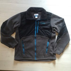 Columbia Big Boys Sz 18 Fleece/Nylon Full zip JKT